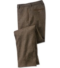 county donegal tweed pants, brown mix, 40w x 30l