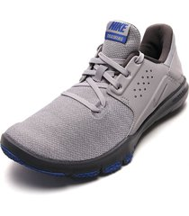 tenis training gris-azul nike flex control tr3