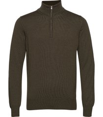 lane merino quater zip sweater knitwear half zip jumpers groen j. lindeberg