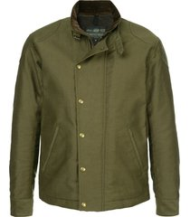 addict clothes japan military boa jacket - green