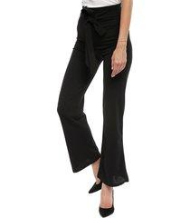 pantalón nrg liso negro - calce regular