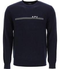 a.p.c. eponyme sweater logo intarsia