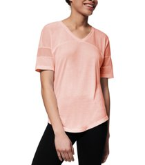 marc new york mesh-inset active t-shirt