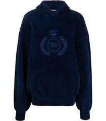balenciaga embroidered logo hoodie