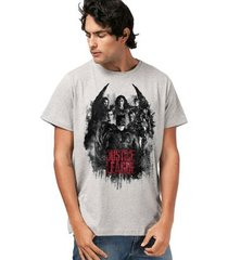 camiseta liga da justiça dc comics red heroes bandup! masculina