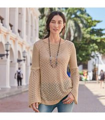 sundance catalog women's aura sweet sweater in rose large