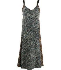 rag & bone colette floral-print silk dress - black