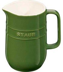 jarra 1 litro cerâmica verde basil staub
