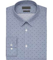 calvin klein navy dot extreme slim fit dress shirt