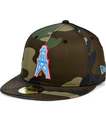 new era houston oilers woodland 59fifty cap