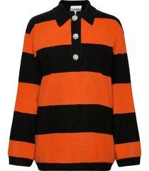 cashmere knit stickad tröja orange ganni