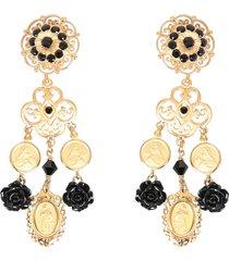 dolce & gabbana clip pendant earrings
