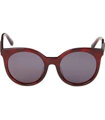 stella mccartney women's 52mm cat eye sunglasses - havana