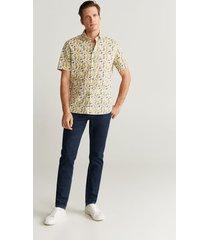 blouse met tropische print