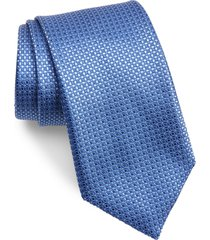 men's canali neat silk tie, size regular - blue