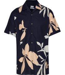 m. don sandhamn print shirt overhemd met korte mouwen blauw filippa k