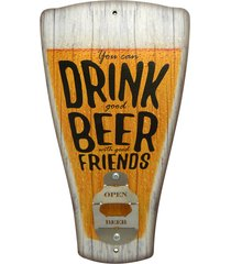 abridor kasa ideia de garrafa de parede chopp you can drink... amarelo