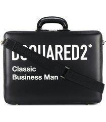 dsquared2 classic business man briefcase - black