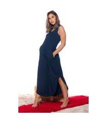 pantacourt m&a modas macacão azul marinho