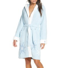women's barefoot dreams cozychic(tm) disney frozen hooded robe, size large/x-large - blue