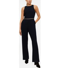 mango beaded detail waist jumpsuit