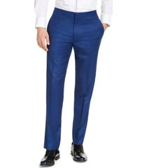 alfani men's slim-fit stretch blue tuxedo pants, created for macy's