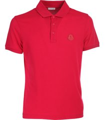 moncler red half sleeve polo