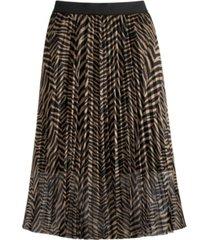 adyson parker women's zebra print mesh midi skirt