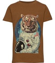 ruben s_s tee t-shirts short-sleeved brun the new