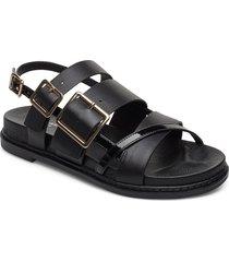stb-joy multi strap l shoes summer shoes flat sandals svart shoe the bear
