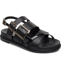 stb-joy multi strap l shoes summer shoes flat sandals svart shoe the bear