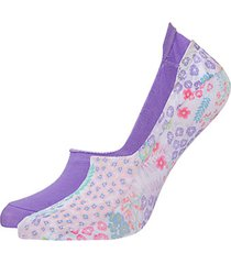 josie lotus bouquet 4-pack printed liner socks