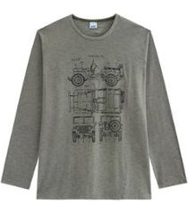 camiseta tradicional em malha wee! wee masculina - masculino