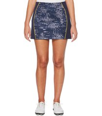 pga tour print-blocked golf skort