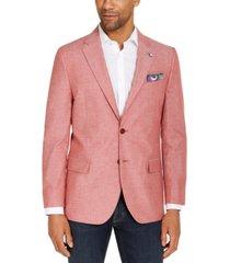nautica mens modern-fit stretch chambray sport coat