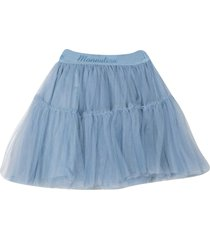 monnalisa blue short skirt