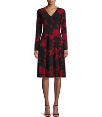 moody floral a-line dress