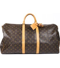 louis vuitton vintage keepall bandouliere 55 monogram travel bag