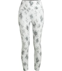 cobra-print active leggings