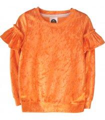 bluza velour orange