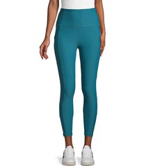 x by gottex women's vanessa ankle leggings - navy heather - size l