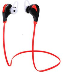audífonos bluetooth manos libres inalámbricos, g6 auricular inalámbrico audifonos bluetooth manos libres  stereo deportes mp3 música manos libres sweatproof (rojo)