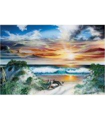 """dann spider warren emerald paradise canvas art - 36.5"""" x 48"""""""