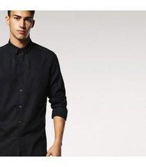 camisa de manga longa diesel s-jacqy camicia | masculina preta