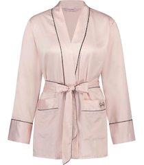 hunkemöller pyjamasjacka satin rosa
