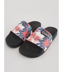 ojota negra swede slipper