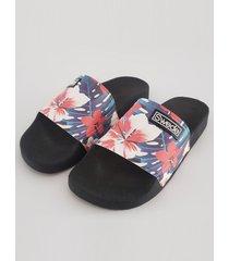 ojota negra swede slipper