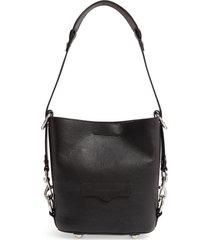 rebecca minkoff small utility convertible leather bucket bag -