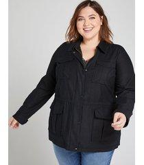 lane bryant women's utility jacket 26 black