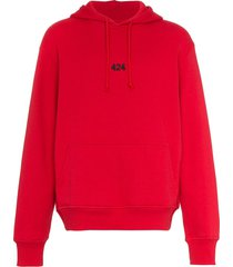 424 logo embroidered cotton hoodie